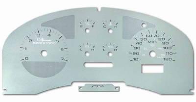 Car Interior - Gauges - US Speedo - US Speedo Stainless Steel Gauge Face - Displays MPH - Tachometer - F1500401