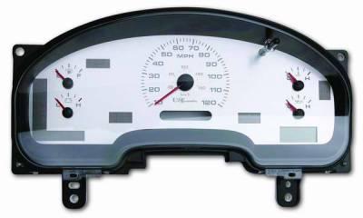 Car Interior - Gauges - US Speedo - US Speedo Stainless Steel Gauge Face - Displays MPH - No Tachometer - F1500402