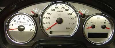 Car Interior - Gauges - US Speedo - US Speedo Stainless Steel Gauge Face - Displays MPH - Tachometer - F1500403