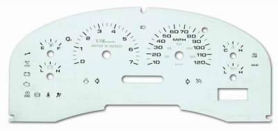 Car Interior - Gauges - US Speedo - US Speedo Stainless Steel Gauge Face - Displays MPH - Tachometer - F1500404