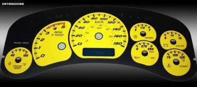 Car Interior - Gauges - US Speedo - GMC Sierra HD US Speedo Dayton Edition Gauge Face