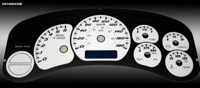 Car Interior - Gauges - US Speedo - Chevrolet Silverado US Speedo Dayton Edition Gauge Face