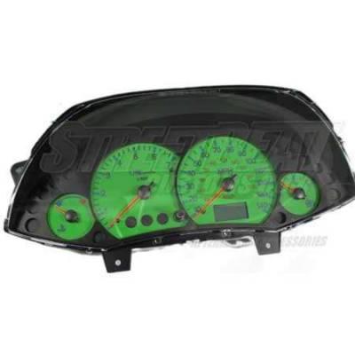 Car Interior - Gauges - US Speedo - US Speedo Green Exotic Color Gauge Face - Displays MPH - Tachometer - FOC 04 GR