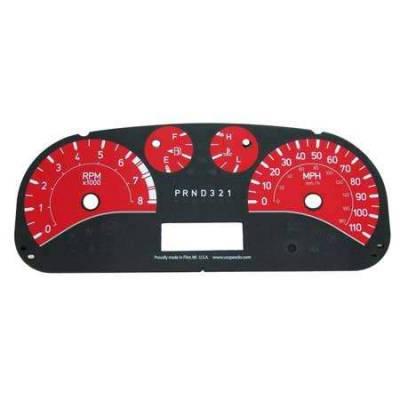 Car Interior - Gauges - US Speedo - US Speedo Stainless Steel Gauge Face - Displays MPH - H30601