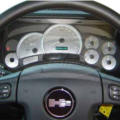 Car Interior - Gauges - US Speedo - US Speedo Stainless Steel Gauge Face - Displays MPH - HUM0504