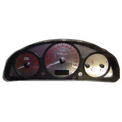 Car Interior - Gauges - US Speedo - US Speedo Stainless Steel Gauge Face - Displays MPH - Tachometer - MAL0401