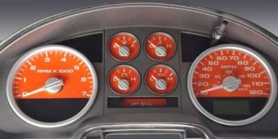Car Interior - Gauges - US Speedo - US Speedo Orange Exotic Color Gauge Face - Displays MPH - FX4 04 OR