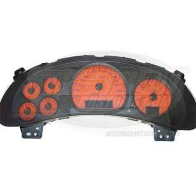 Car Interior - Gauges - US Speedo - US Speedo Home Depot Orange Exotic Color Gauge Face - Displays 120 MPH - 3 Gauges - MON 04 OR
