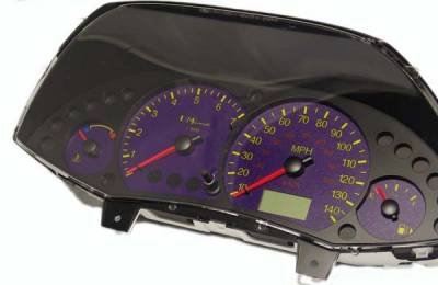 Car Interior - Gauges - US Speedo - US Speedo Purple Exotic Color Gauge Face - Displays MPH - Tachometer - FOC 04 PU