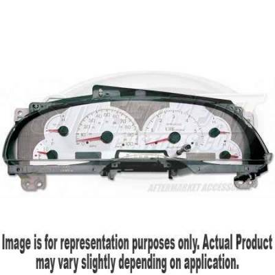 Car Interior - Gauges - US Speedo - US Speedo Stainless Steel Gauge Face - Displays MPH - Tachometer - RAN0301
