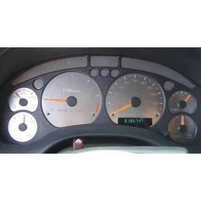 Car Interior - Gauges - US Speedo - US Speedo Stainless Steel Gauge Face - Displays 6000 RPM - Floor Shift - ST1000201
