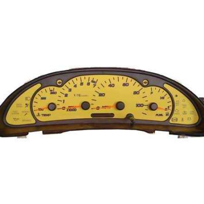 Car Interior - Gauges - US Speedo - US Speedo Stainless Steel Gauge Face - Displays MPH - Tachometer - SUN0301