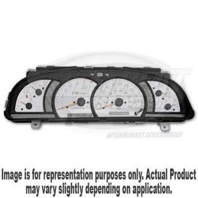 Car Interior - Gauges - US Speedo - US Speedo Stainless Steel Gauge Face - Displays Tachometer - 8000 RPM - MPH - TAC0401