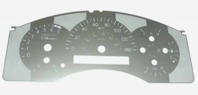 Car Interior - Gauges - US Speedo - US Speedo Stainless Steel Gauge Face - TIT0501