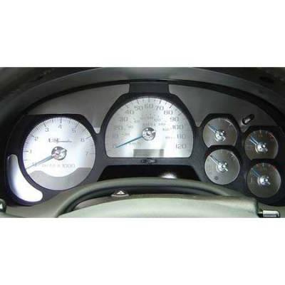 Car Interior - Gauges - US Speedo - US Speedo Stainless Steel Gauge Face - Displays MPH - TRL0301