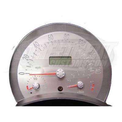Car Interior - Gauges - US Speedo - US Speedo Stainless Steel Gauge Face - Displays 140 MPH - Manual - VWB0303
