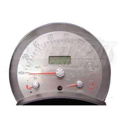 Car Interior - Gauges - US Speedo - US Speedo Stainless Steel Gauge Face - Displays 140 MPH Automatic - VWB0304