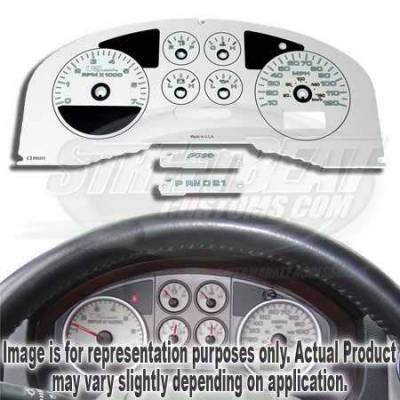 Car Interior - Gauges - US Speedo - US Speedo White Exotic Color Gauge Face - Displays MPH - FX4 04 WH