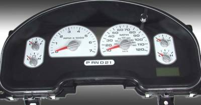 Car Interior - Gauges - US Speedo - US Speedo White Exotic Color Gauge Face - Displays MPH - XLT 04 WH