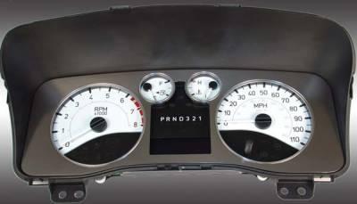 Car Interior - Gauges - US Speedo - US Speedo White Exotic Color Gauge Face - Displays Automatic - H3 06 WH