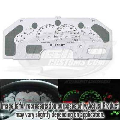 Car Interior - Gauges - US Speedo - US Speedo Stainless Steel Gauge Face Message Center with Tan Dash - XPD0301