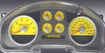 Car Interior - Gauges - US Speedo - US Speedo Yellow Exotic Color Gauge Face - Displays MPH - FX4 04 YE