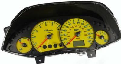 Car Interior - Gauges - US Speedo - US Speedo Yellow Exotic Color Gauge Face - Displays MPH - Tachometer - FOC 04 YE