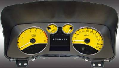Car Interior - Gauges - US Speedo - US Speedo Yellow Exotic Color Gauge Face - Displays Automatic - H3 06 YE