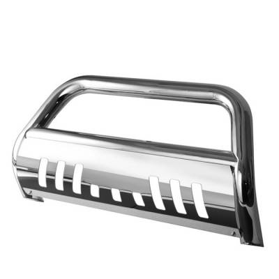 Grilles - Grille Guard - Spyder - GMC Envoy Spyder 3 Inch Bull Bar T-304 Stainless SteelPolished - BBR-CB-A02G0402