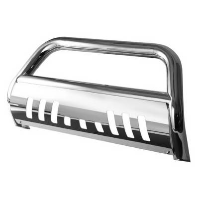 Grilles - Grille Guard - Spyder Auto - Ford Expedition Spyder Bull Bar - Chrome Stainless T-304 - BBR-FE-A02G0500