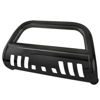 Grilles - Grille Guard - Spyder - Ford F450 Spyder 3 Inch Bull Bar Powder Coated Black - BBR-FF-A02G0504-BK
