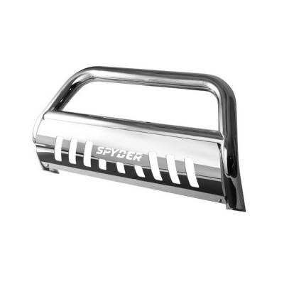 Grilles - Grille Guard - Spyder - Jeep Grand Cherokee Spyder 3 Inch Bull Bar T-304 Stainless SteelPolished - BBR-JG-A02G0915