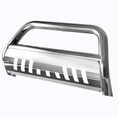 Grilles - Grille Guard - Spyder Auto - Nissan Armada Spyder Bull Bar - Chrome Stainless T-304 - BBR-NA-A02G1203