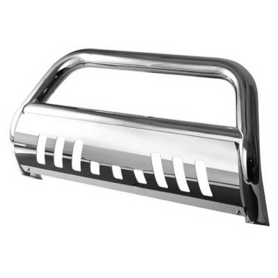 Grilles - Grille Guard - Spyder Auto - Nissan Frontier Spyder Bull Bar - Chrome Stainless T-304 - BBR-NF-A02G1200