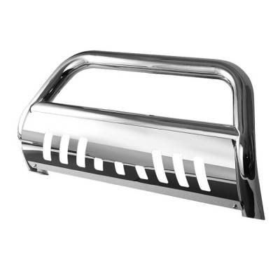 Grilles - Grille Guard - Spyder - Toyota 4Runner Spyder 3 Inch Bull Bar T-304 Stainless SteelPolished - BBR-T4-A02G1009