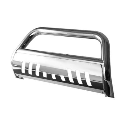 Grilles - Grille Guard - Spyder - Toyota Highlander Spyder 3 Inch Bull Bar T-304 Stainless SteelPolished - BBR-TH-A02G1020