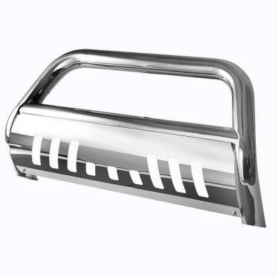 Grilles - Grille Guard - Spyder - Toyota Tundra Spyder 3 Inch Bull Bar T-304 Stainless SteelPolished - BBR-TT-A02G1045