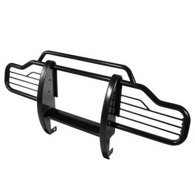 Grilles - Grille Guard - Spyder Auto - Jeep Wrangler Spyder Grille Guard - Black - GG-JW-A07G0901-BK