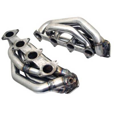 Exhaust - Headers - Spyder Auto - Ford Mustang Spyder Exhaust Header - Chrome - TS-HE-FM05GT-C