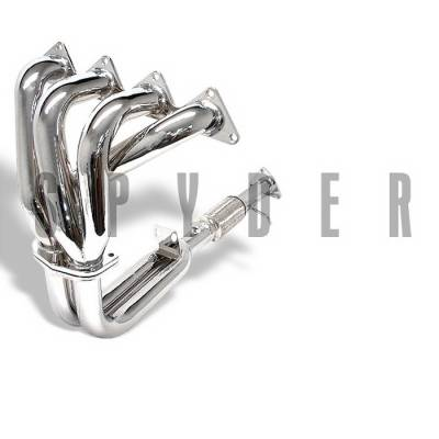 Exhaust - Headers - Spyder Auto - Honda Prelude Spyder 4-2-1 Exhaust Header - Chrome - TS-HE-HP92SI-C