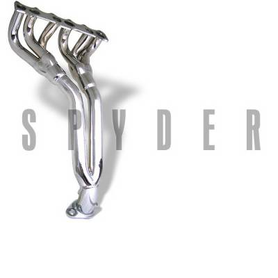 Exhaust - Headers - Spyder Auto - Volkswagen Golf Spyder 4-2-1 Exhaust Header - Chrome - TS-HE-VG99VR6