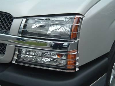 Headlights & Tail Lights - Headlight Covers - TFP - TFP Stainless Steel Headlight Insert Guard - 902
