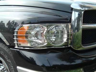 Headlights & Tail Lights - Headlight Covers - TFP - TFP Stainless Steel Headlight Insert Guard - 921
