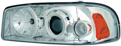Headlights & Tail Lights - Headlights - TYC - TYC Projector Headlights with Chrome Housing - 80621500