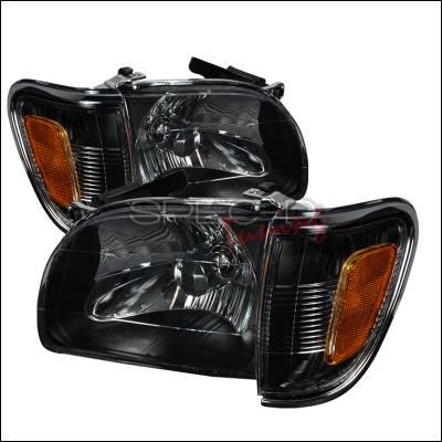 Headlights & Tail Lights - Headlights - Spec-D - Toyota Tacoma Spec-D Crystal Housing Headlights - Black - 2LCLH-TAC01JM-KS