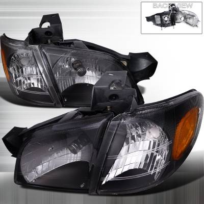 Headlights & Tail Lights - Headlights - Spec-D - Chevrolet Venture Spec-D Crystal Headlights - Black 1PC - 2LCLH-VENT97JM-RS