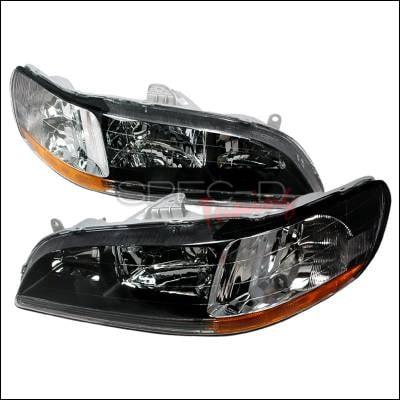 Headlights & Tail Lights - Headlights - Spec-D - Honda Accord Spec-D Crystal Housing Headlights - Black - 2LH-ACD98JM-KS