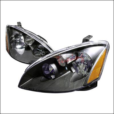 Headlights & Tail Lights - Headlights - Spec-D - Nissan Altima Spec-D Crystal Housing Headlights - Black - 2LH-ALT02JM-KS