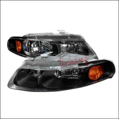 Headlights & Tail Lights - Headlights - Spec-D - Dodge Avenger Spec-D Crystal Housing Headlights - Black - 2LH-AVG97JM-KS