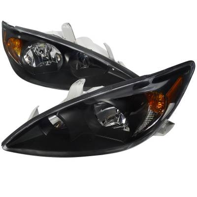 Headlights & Tail Lights - Headlights - Spec-D - Toyota Camry Spec-D Headlights - Black - 2LH-CAM02JM-RS